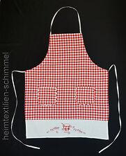Küchenschürze Schürze Latzschürze Kochschürze Grillschürze Backschürze rot-weiß