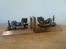 Custom Vintage Steampunk Mechanical Industrial Brass Pump Bookends. Nice!