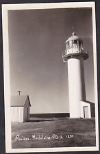 C 1915 - 1930 Real Photo RPPC Postcard Lighthouse RIVIERE MADELEINE, Quebec