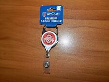 Ohio State University OSU Premium Retractable Badge ID Holder w/Carabiner NCAA
