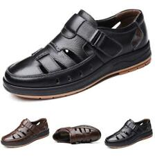 Mens Faux Leather Sandals Shoes Closed Toe Walking Breathable Business Casual L
