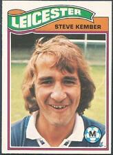 TOPPS 1978 FOOTBALLERS #109-LEICESTER CITY-STEVE KEMBER