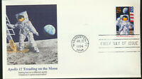 #2841 Moon Landing 25th Anniv Fleetwood FDC Apollo 11 Treading on the Moon