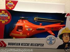 Fireman Sam Mountain Rescue Helicopter & Tom articulated figure Vehicle Toy