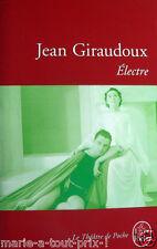 Livre NEUF ELECTRE de Jean Giraudoux le livre de poche THEATRE