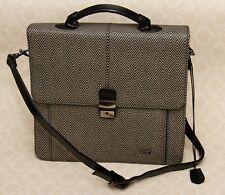 Herringbone black cross body messenger shoulder ipad bag organizer handbag
