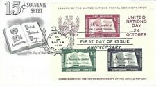 UNITED NATIONS #38 SOUVENIR SHEET FDC 1955