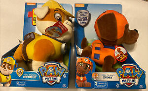 Paw Patrol Real Talking Rubble And Zumba Dogs Plush