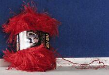 NEW Eyelash FUN FUR Yarn by LION BRAND #113 RED Crochet KNIT & Crafts