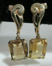 Vintage Gold Filled & Citrine Earrings