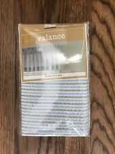 """Martha Stewart Blue & Green Seersucker Valance 84x15"""""""
