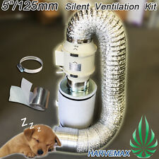 5inch 2 Speed Silent Fan Carbon Filter Hydroponic Grow Tent Room Ventilation Kit