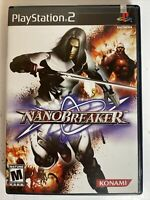 Nanobreaker (Sony PlayStation 2,2005)  PS2 No Manual Tested