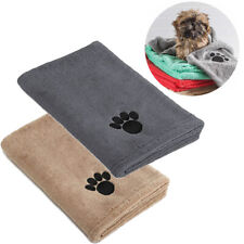 More details for pack of 2 super absorbent doggy bath towel microfibre pet bath towels large size