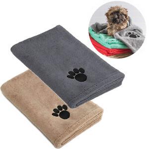 Pack of 2 Super Absorbent Doggy Bath Towel Microfibre Pet Bath Towels Large Size