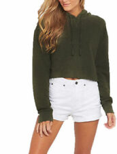 Damenblusen, - Tops & -Shirts in Größe 38 mit Kapuze ohne Muster