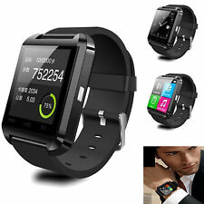 Black Men Sports Smart Wrist Bluetooth Watch For Android Samsung Galaxy Note 3 4