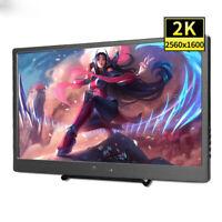 "10.1"" Portable 2560x1600 USB-C Display 2K HDMI Monitor for Xbox360 Raspberry pi"