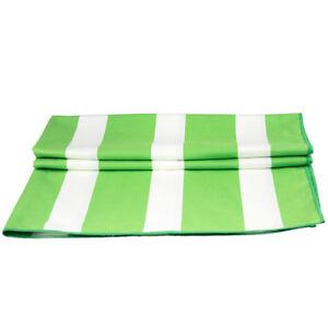 Stripe Lightweight Microfiber Pool/Bath Towel With Pouch