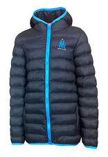 BOYS 14 Years OLYMPIQUE MARSEILLE Padded Puffa Jacket Hooded Football Coat wo