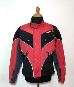 Vanucci Jacket S/M Aromoured Red Black Touring Motorcycle Men Women Vintage Moto