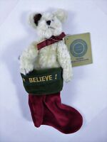 Boyds Bear Gabriella Exclusive In Mini Christmas Stocking With Tags