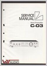 Luxman C-03 Service Manual