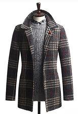 Herren Luxus Slim Fit Glen überprüfen Mac Mantel Blazer Jacke Jumper K009 - S/M