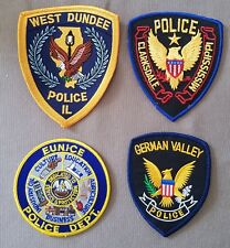 USA - 4 x Different Police Patches #16