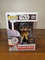Funko Pop! Star Wars Young Anakin Skywalker Vinyl Figure #231 Pod Racer +Protect