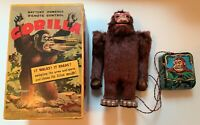 GORILLA Rare CRAGSTAN Vintage Battery Operated Tin Toy w/ Remote BOXED Works!