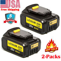 2 Pack Battery For Dewalt 20V 6.0Ah DCB200 Lithium Max XR DCD740 DCB206-2 DCB204