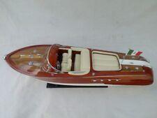 "Quality Riva Aquarama 26"" Wood Model Boat L60 Cream Seat Free Shipping"