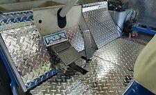 YAMAHA GOLF CART G2 - G9   DIAMOND PLATE 7 peice floor kit.