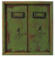 Key Holder 2 Hooks Rack Vintage Reproduction Wood Rustic Decor