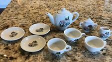 Porcelain Doll/ Child Tea Set, 11 Pieces Complete