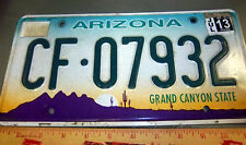 Arizona Metall License Plate, EX 2013, Grand Canyon State, CF 07932, gemustert