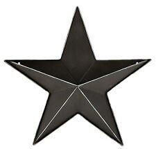 "Black Metal 3D Barn Star Wall Pocket Farmhouse Home Decor 11.5"" NEW KK7249BK-12"