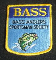 """BASS ANGLERS SPORTSMAN SOCIETY EMBROIDERED SEW ON PATCH FISHING 3 1/4"""" x  3 1/2"""""""
