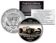 1954 MERCEDES W196R SILVER ARROW Most Expensive Auction Car JFK Half Dollar Coin