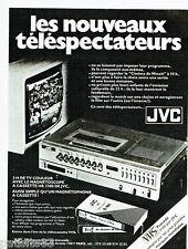 PUBLICITE ADVERTISING 115  1978  JVC   téléviseur magnétoscope cassettes