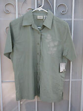 NWT ~ CLASSIC ELEMENTS ~ Sz M Embroidered 100% Cotton Shirt Women ~ SHIPS FREE