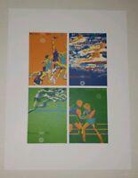 Original vintage poster OLYMPIC GAMES MUNICH 1972 Jump