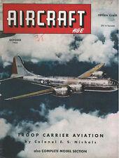 AIRCRAFT AGE OCT 44 NIEUPORT 17C1_WACO CG-4A_RNoAF_B-29_BEAUFIGHTER_P-61_R-5_TCS