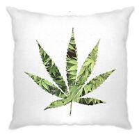 Recreational Cushion Cover Marijuana Leaf Cutout Cannabis Dope Logo Chill Fun