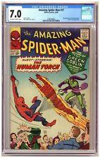 Amazing Spider-Man 17 (CGC 7.0) 2nd app. Green Goblin; Human Torch; Ditko C693