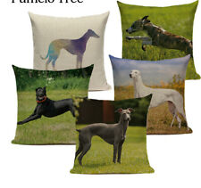 Household Decors Greyhound Cushion Covers Animal Dog Custom Quality Green