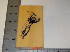 Anita'S Cupid With Bow Rubber Stamp Wood Mounted Euc Used A6096