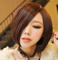 Fashion Women Cosplay Party Full Short Wigs Straight Wig Hair Black/Brown New