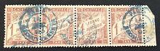 timbre france TAXE, n°25, 1f maron, Obl bleu, TBC, cote 700e